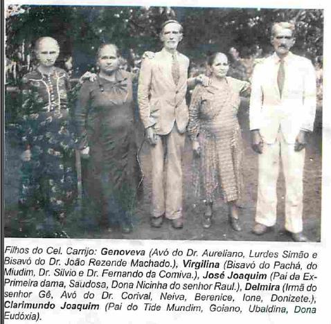 descendentes do Coronel Carrijo