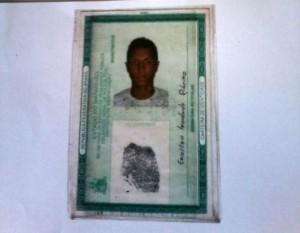 Erielton Trindade Ribeiro de 21 anos