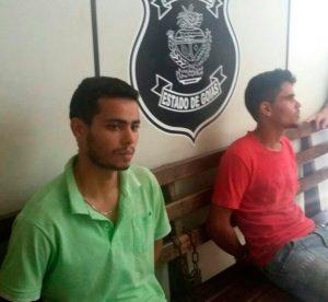 LUCAS HENRIQUE FIRMINO DO NASCIMENTO, 19 anos, e EVANDO LUIS PEREIRA DE SOUSA, 24 anos